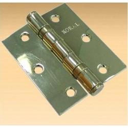 Петля дверная КОРАЛ 3х2,5х2 2BB PB (золото)