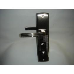 Ручки на планке АЛЛЮР (РН А222-1) для КИТАЙ метал. дверей ЛЕВАЯ (с подсветкой)