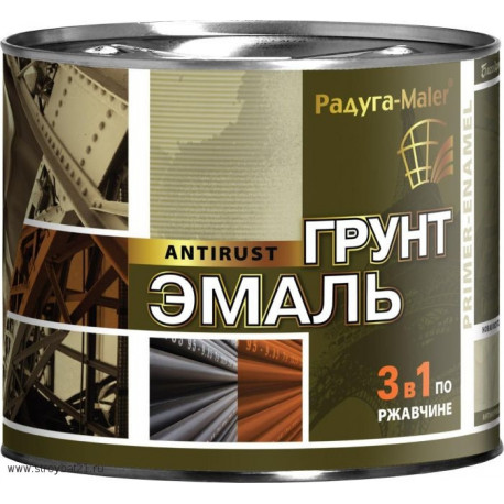 Грунт эмаль по ржавчине 3в1 Радуга 1,9 кг.