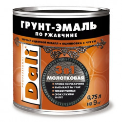 Dali грунт-эмаль 3в1 молотковая 0,75 л